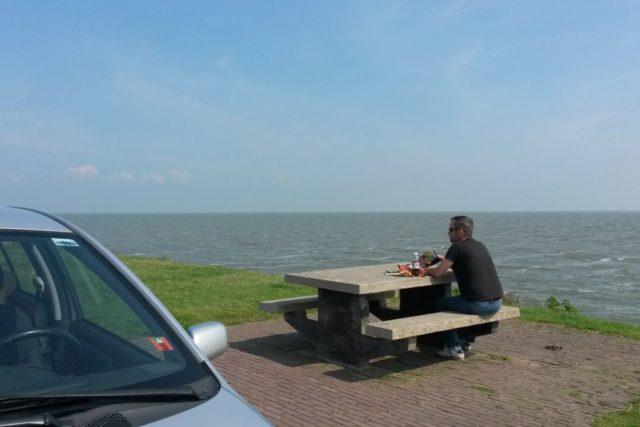 Rastplatz Breezanddijk Abschlussdeich Ijsselmeer