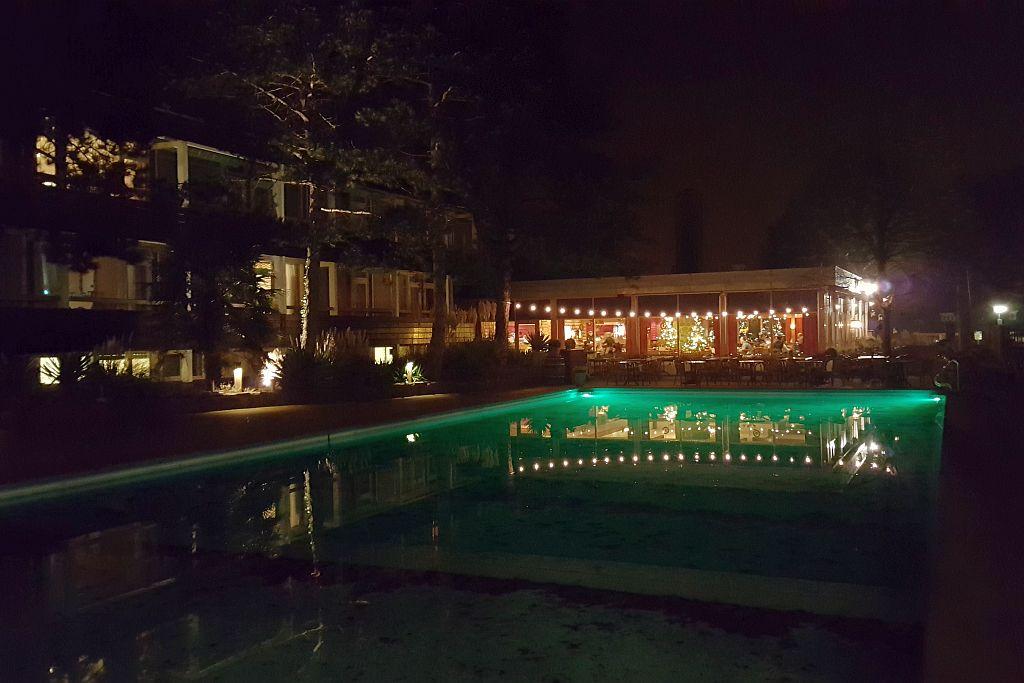 Badhotel Rockanje Pool Nacht