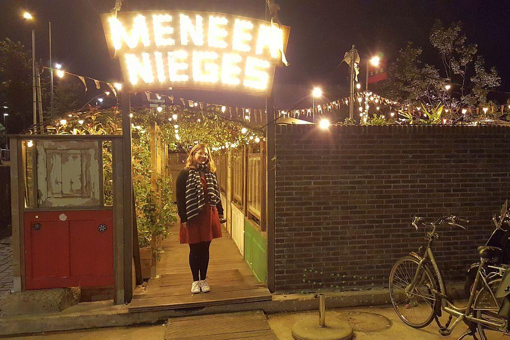 Amsterdam Meneer Nieges Schriftzug Stefanie