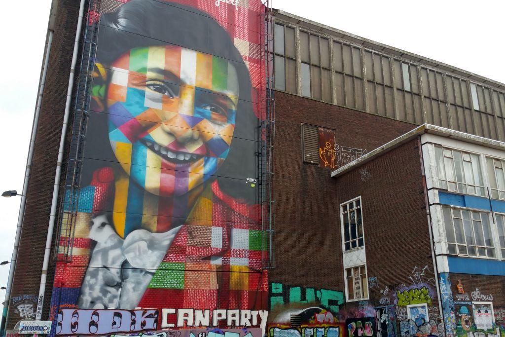 NDSM-Gelände Amsterdam Anne Frank Graffiti