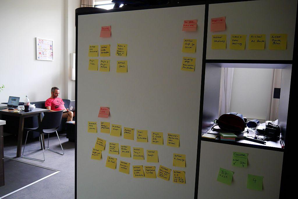 Bloggen Amsterdam Wand Aufgaben