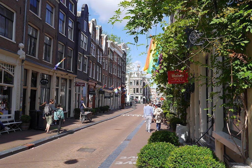 Straße Spaziergang Grachten Amsterdam