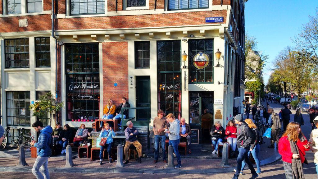 Het Papeneiland Bar Ecke Prinsengracht Brouwersgracht Amsterdam