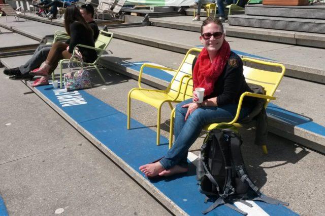 Chillen auf Dach Nemo Amsterdam