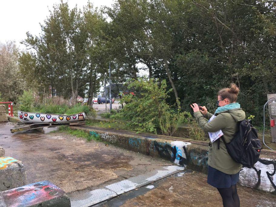 Amsterdam NDSM Gelände mit Boot