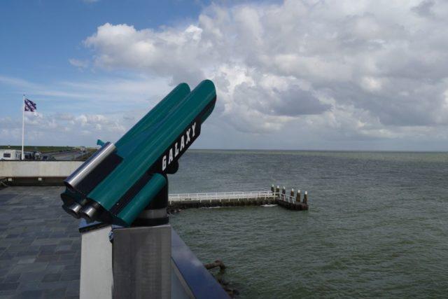 Aussichtsplattform Breezanddijk Abschlussdeich Ijsselmeer Holland
