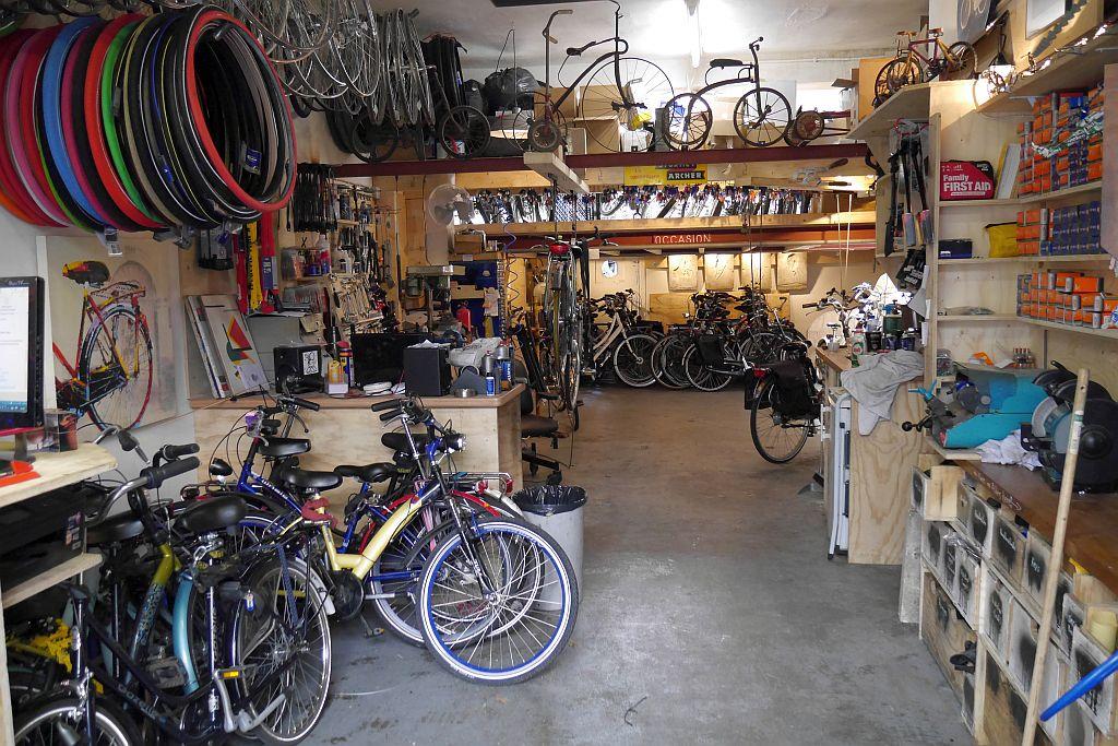 Fahrradverleih Amsterdam Werkstatt