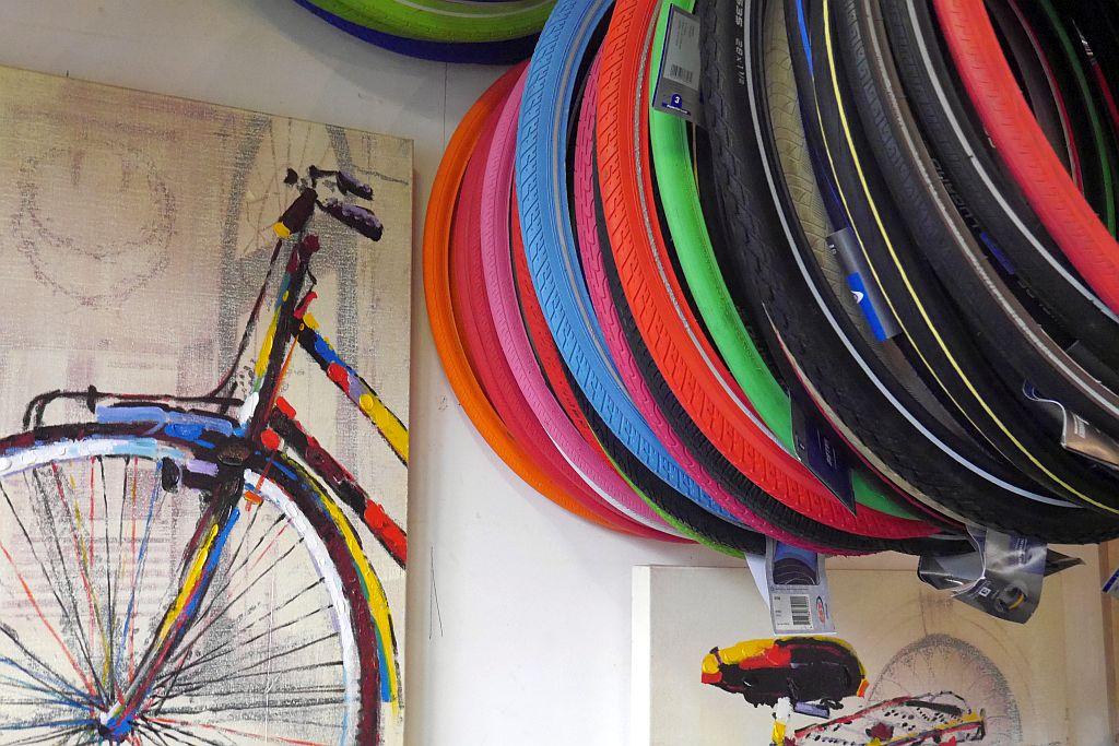 Fahrradverleih Amsterdam Reifen