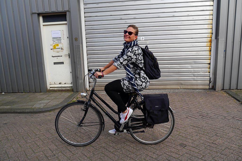 Steffi Fahrrad Amsterdam Tor