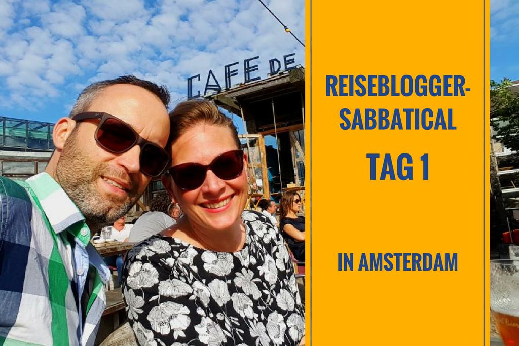 Erster Sabbatical-Tag in Amsterdam: Blog-Challenge, Fahrräder & NDSM Foodfestival