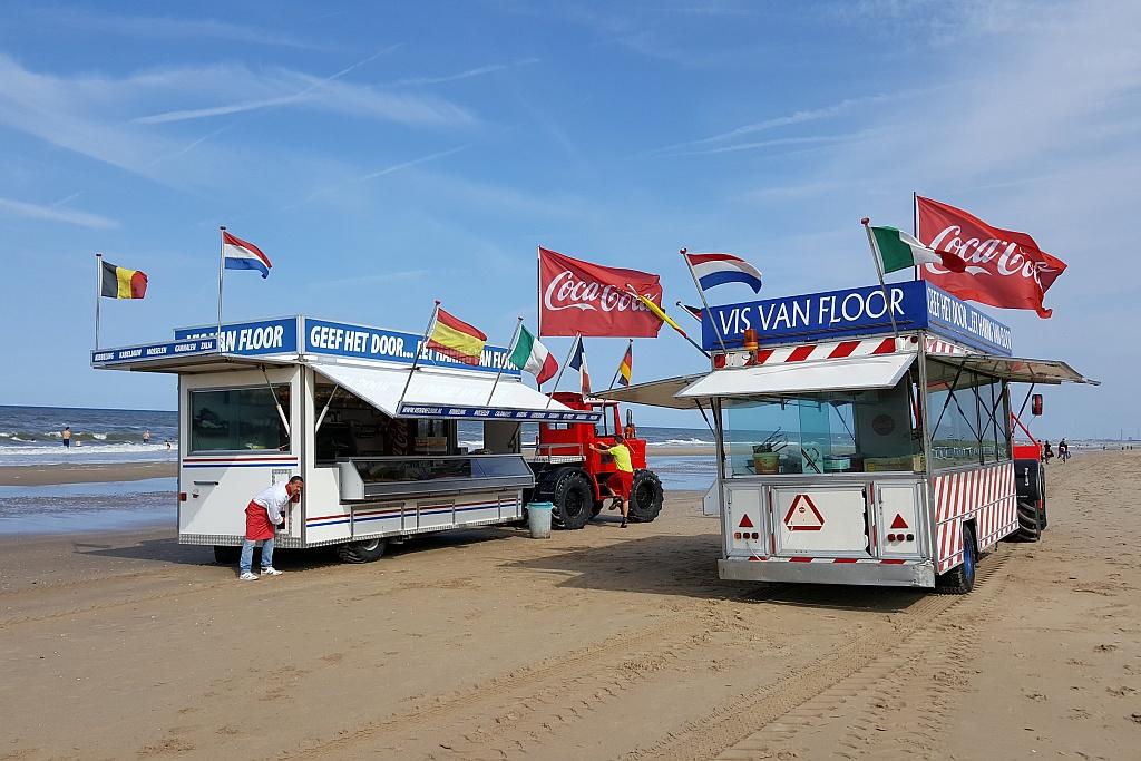 Fischwagen Zandvoort Strand