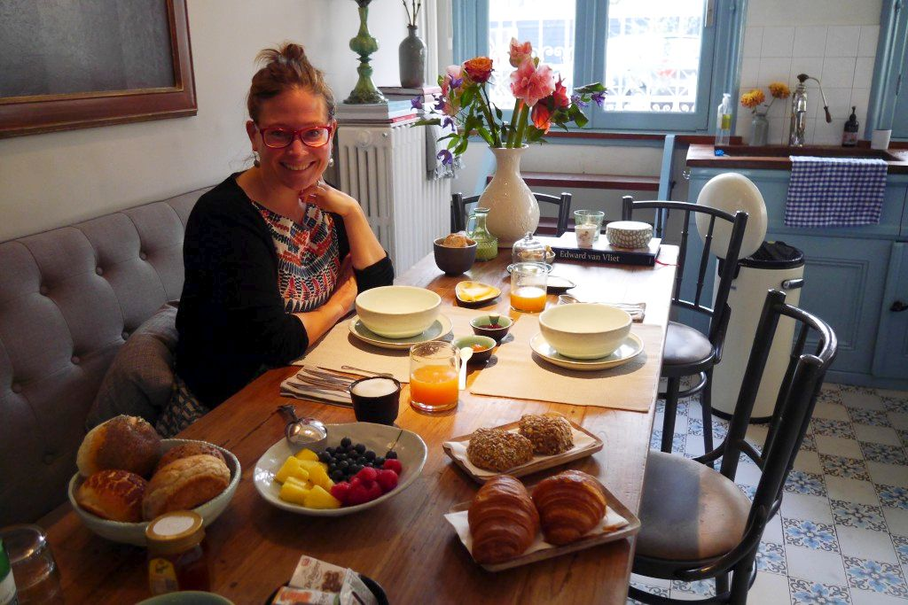 Frühstück Villa Nicola mit Stefanie