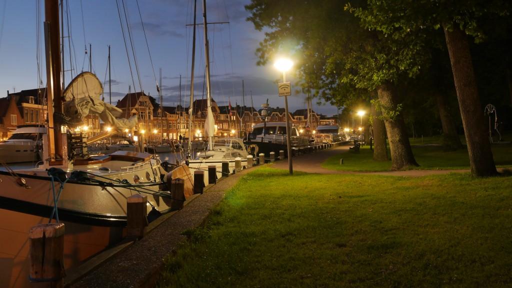 Hoorn Holland Bilder: Hoorn Hafen bei Nacht
