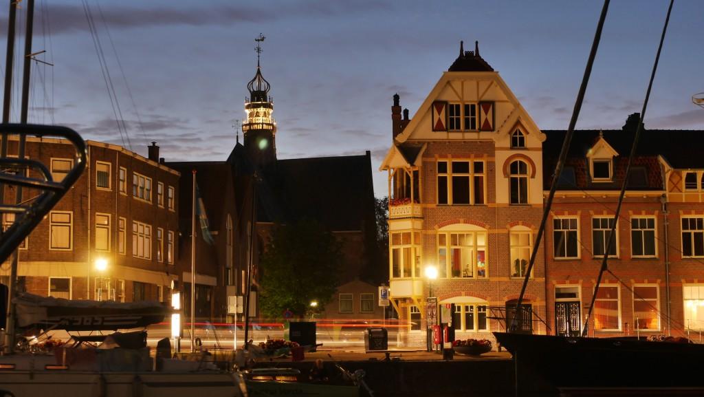 Hoorn Holland Bilder: Oosterkerk bei Nacht