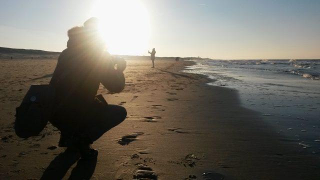 Bilder Nordsee Oostkapelle Strand Gegenlicht