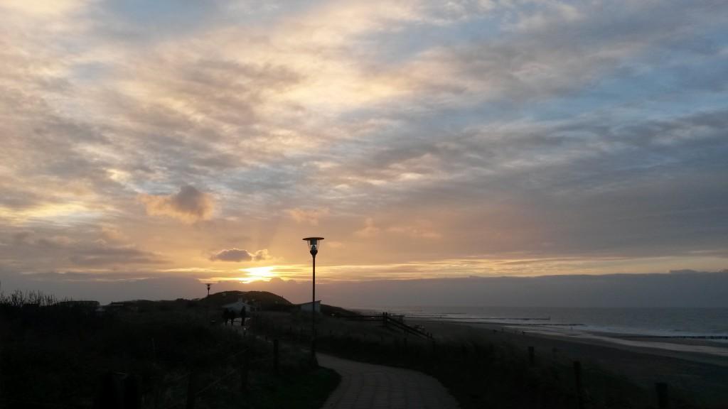 Bilder Nordsee Deich Laterne Sonnenuntergang