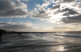 Bilder Nordsee Westkapelle Strand Wolken