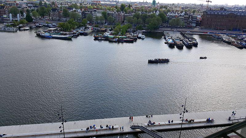 Aussicht Bibliothek Amsterdam auf Oosterdok