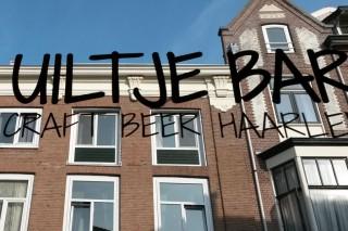 Uiltje Bar Haarlem Schriftzug Fenster