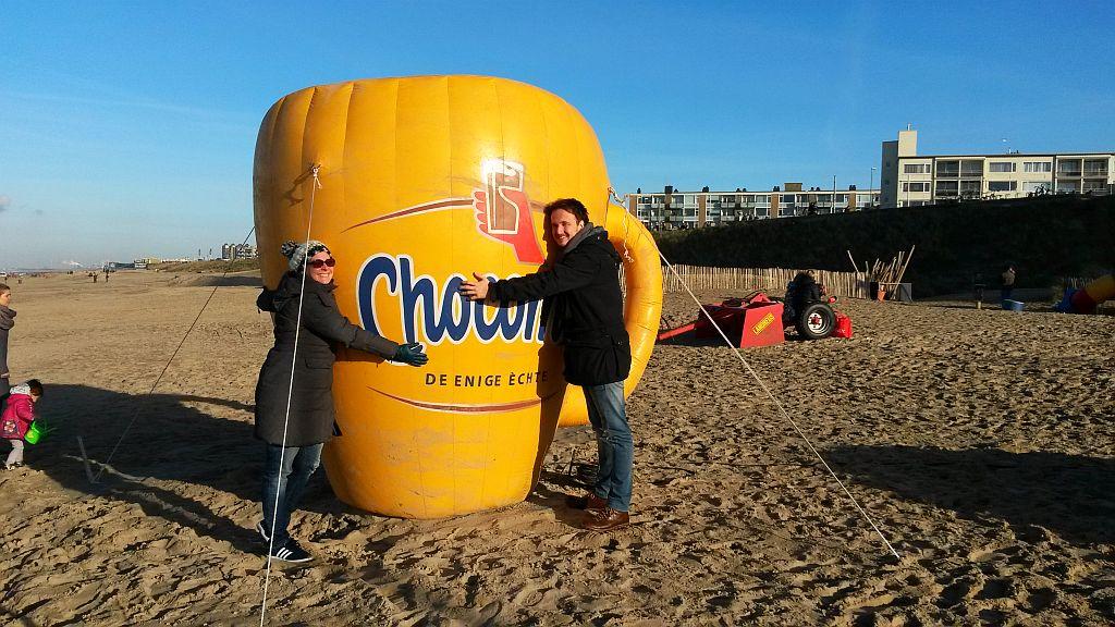 Chocomel Strand Zandvoort Nieuwjaarsduik