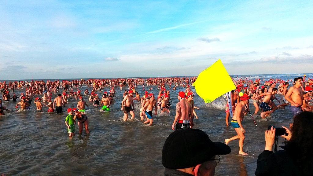 Nieuwjaarsduik 2015 Zandvoort