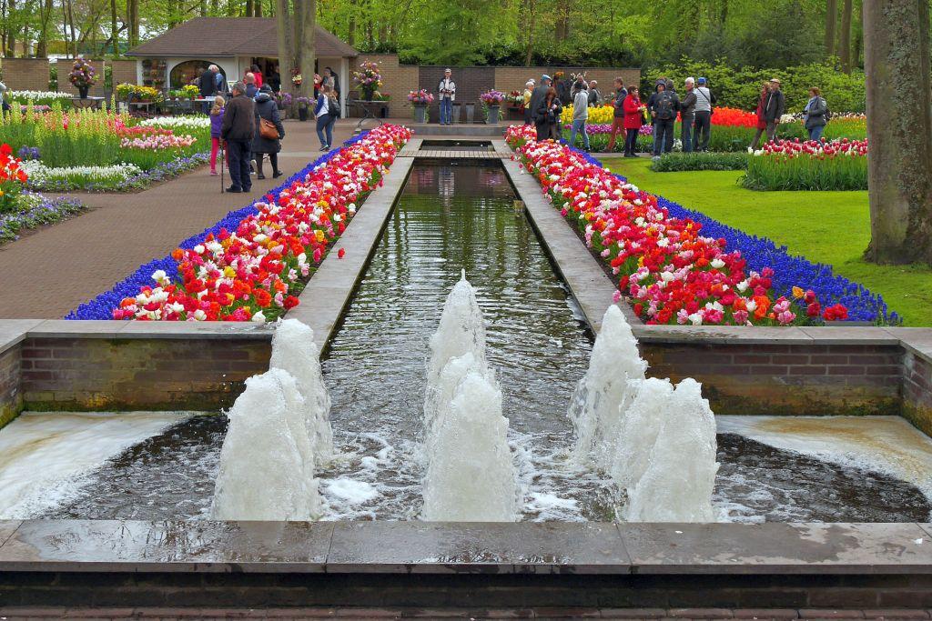 Keukenhof Tulpen Springbrunnen