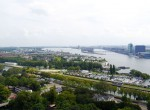 Amsterdam Lookout Blick nach Westen Jachthafen