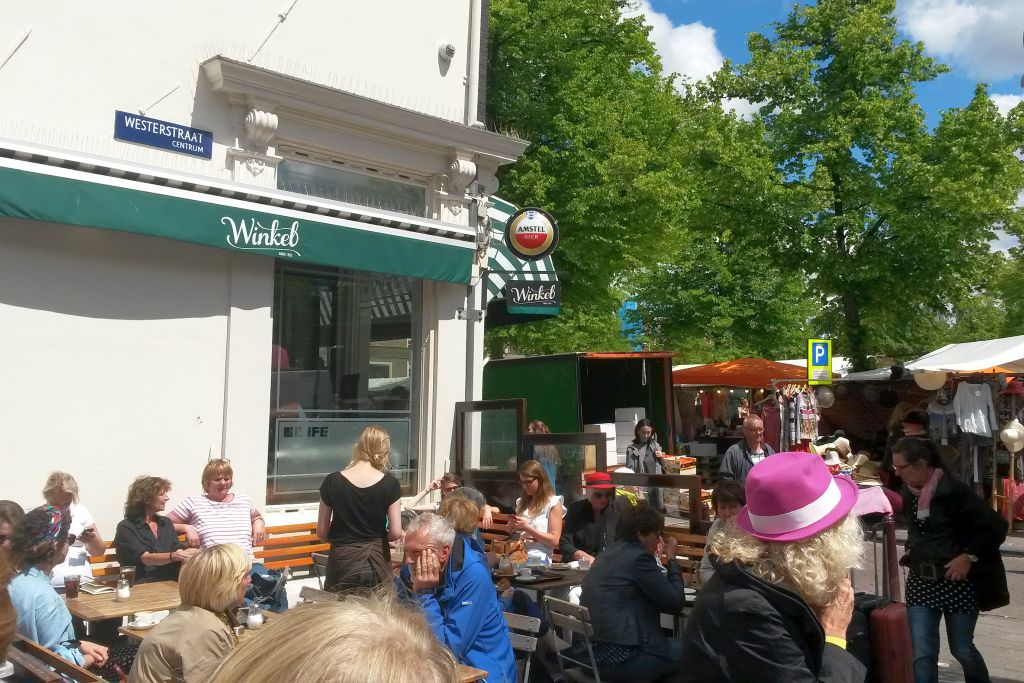 Winkel 43 Aussengastronomie Noordermarkt Amsterdam