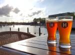Biergläser Homeland Brewery Hafenterrasse Amsterdam