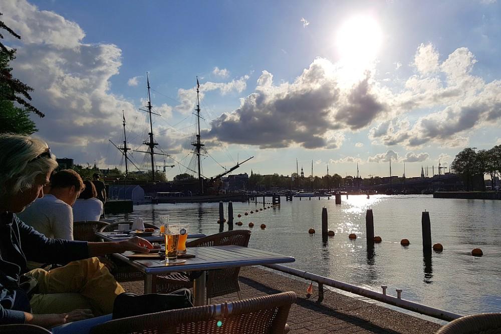 Terrasse Hafen Homeland Brewery Amsterdam