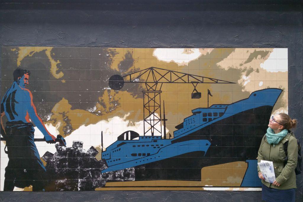 Wandbild in der NDSM Kunsstad in Amsterdam