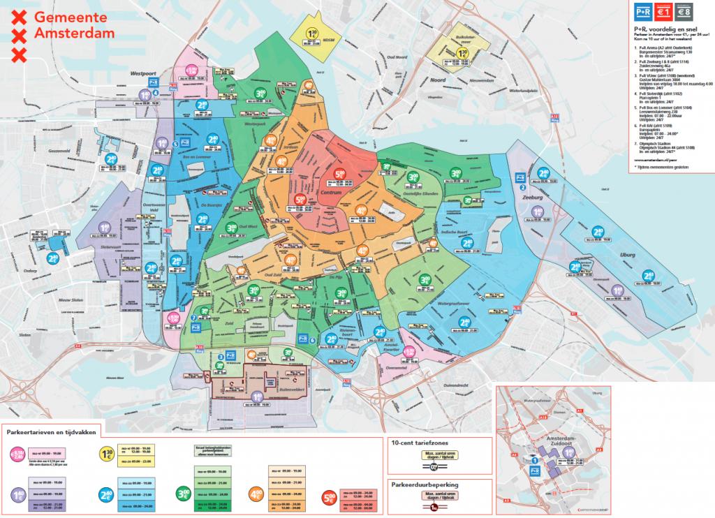 Parken an der Straße Amsterdam Kosten