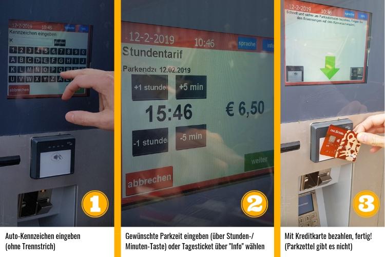 Parken Amsterdam - Parkautomat bezahlen in 3 Schritten