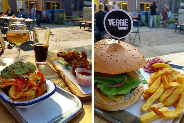 Veggie Burger Nachos Fritters stoom beer&food
