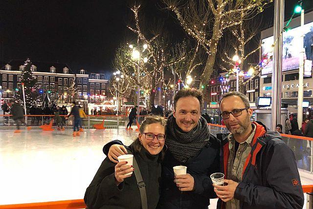Rembrandtplein Amsterdam Schlittschuhlaufen