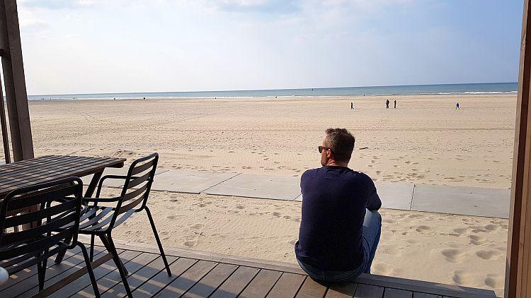 Aussicht auf Strand Kijkduin Strandhaus