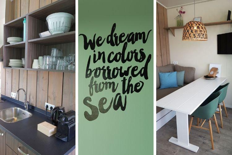 Strandhaus Kijkduin Wohnzimmer Küche