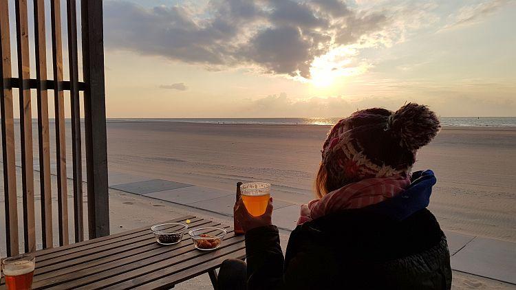 Strandhaus Kijkduin Sonnenuntergang