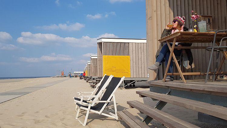 Liegestühle Strandhaus Kijkduin
