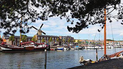 Windmühle Hafen Hellevoetsluis