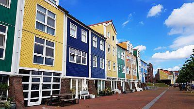 Bunte Häuser in Hellevoetsluis